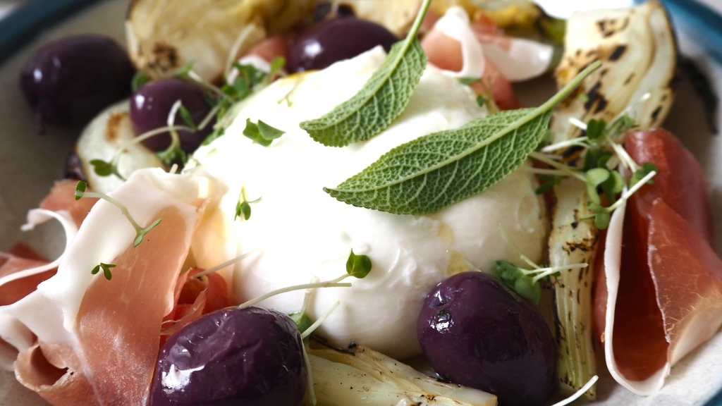 Burrata & grilled fennel antipasti