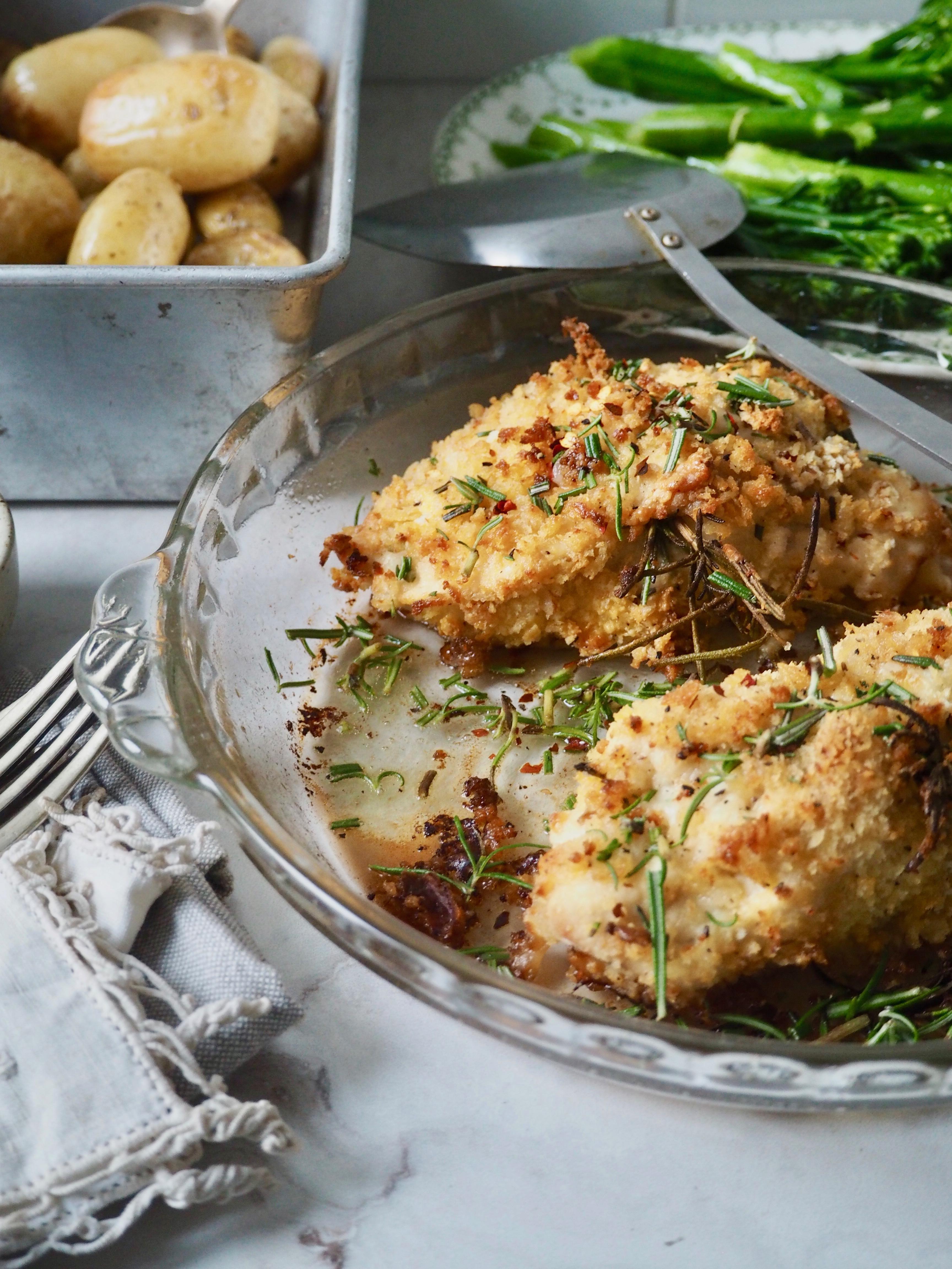 Chicken and Mozzarella Kievs