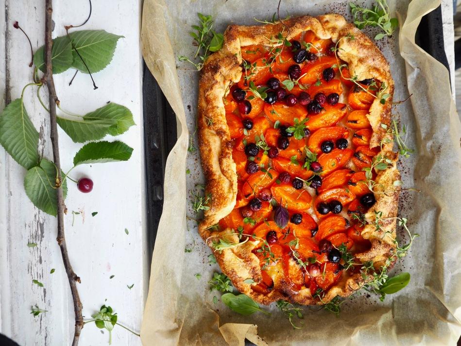 Free-Form Apricot Cherry Tart