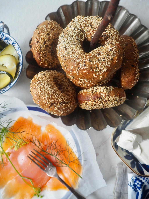 Rye everything bagels
