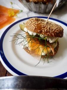 DIY bagel bar